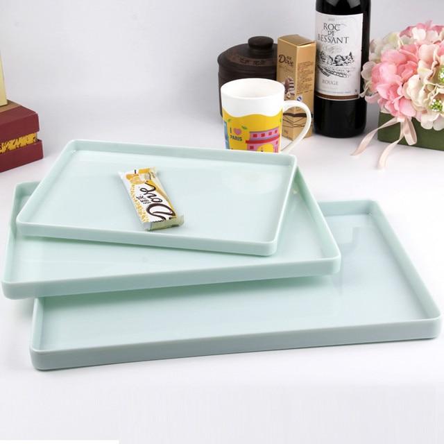 Jade Color Melamine Serving Tray Fast Food Trays For Cafeteria Restaurant Cafe
