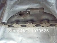 Ferro fundido turbo manifold para vw audi 1.8 t 20 v ferro fundido turbo exaustão manifold t3 flang