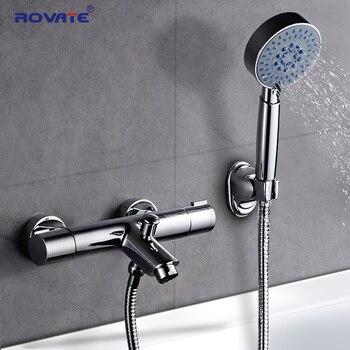 Rovate Badewanne Armaturen Badezimmer Thermostat Mischer Wasserhahne