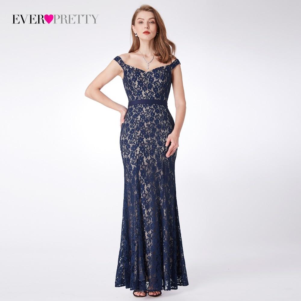 Lace Evening Dresses Long Ever Pretty EP07278 Womens 2018 Navy Blue Long Elegant Sleeveless Vintage  Formal Dresses vestidos
