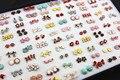 100 pares/lote misto estilo liga lindo Bowknots / borboleta / Cross / brincos de presente crianças ME115