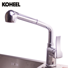 Kitchen Faucets Single Handle Pull Down Spring Spray Kitchen Sink Vessel Faucet Two Spout Swivel Chrome Sink Bar Mixer Taps