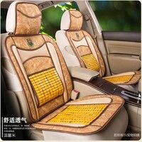 KKYSYELVA Copertura Seggiolino Auto Singolo di Bambù Auto Driver Ammortizzatore di Sede Covers Auto Accessori Interni