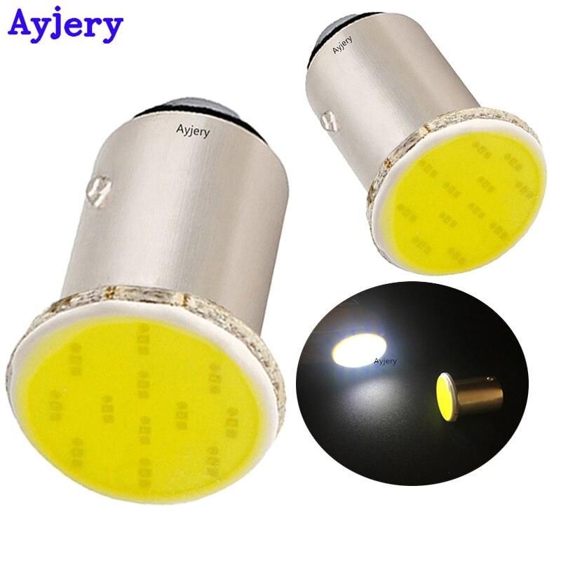 Lot Of 10 Pcs 1156 BA15S P21W Led Car White LED 1156 Lamp COB 12 SMD 12V Voltage