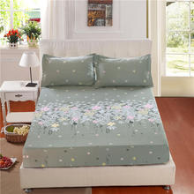 100%Cotton Bed Sheet Fitted sheet With Elastic Band Bed set Twin Queen King sze Bedlinen 160cmX200cm size Mattress Cover