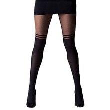 Новые стильные осенние стильные женские полосатые непрозрачные колготки чулки Чулочные изделия обтягивающие колготки черный костюм с чулками