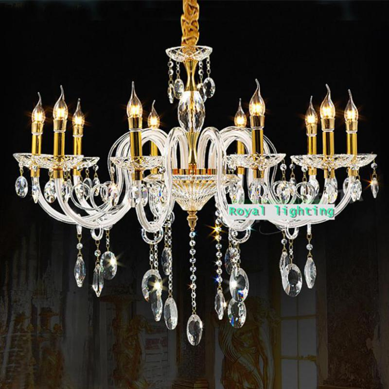 Bohemian Gold Led Candle Chandelier For Boutique White