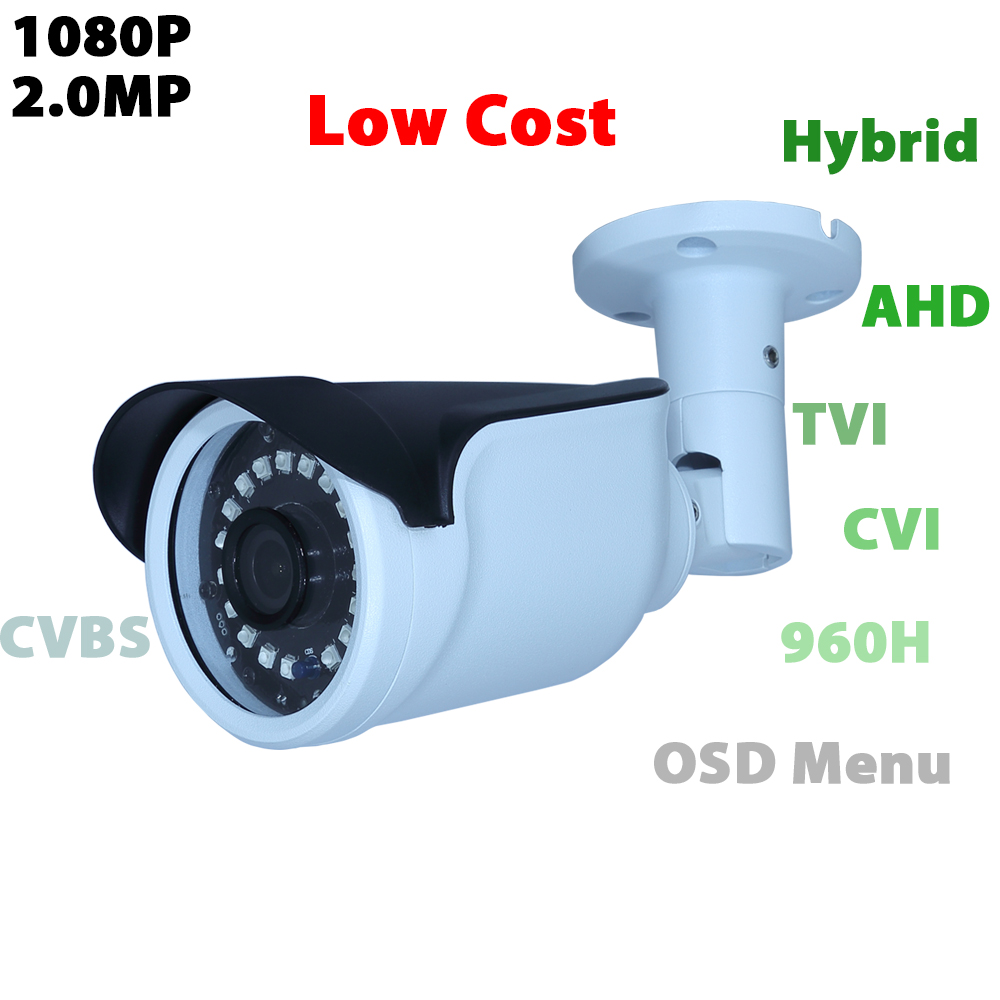 Home Security 2.0MP/1080P AHD/TVI/CVI/CVBS 4 In 1 Output Video Hybrid Analog Camera Waterproof Casing CMOS Sensor 4 in 1 ir high speed dome camera ahd tvi cvi cvbs 1080p output ir night vision 150m ptz dome camera with wiper