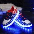 2017 новая мода пятиконечная звезда USB индикатор зарядки светодиодный свет обувь дети детская обувь огни дети обувь кроссовки свет ребенка ru