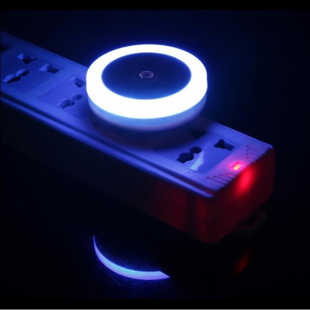 Mini Sensor Night Light Control  EU US Plug Novelty Wall Night Lamp Square Heart Bedroom Lamp For Romantic Night Lights