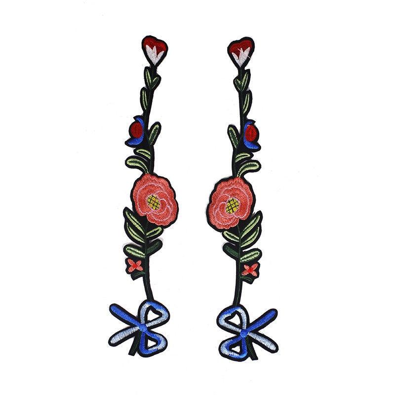 1db hímzett applikáció többszínű csokornyakkendő virág - Művészet, kézművesség és varrás - Fénykép 2