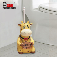 roogo bathroom decoration toilet organization Clean animal toilet brush holder home storage funny bathroom organizers