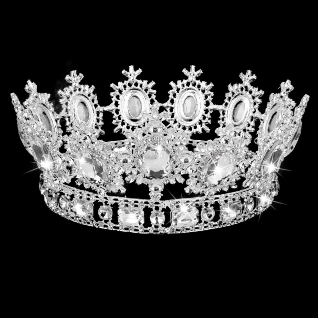 Wedding Bridal Prom Pageant Crystal Rhinestone Crown Hat Tiara Headpiece 1pcs fashion plain mini top hat hen party mini taller top hat children girls hair fascinator woman tiara headpiece diy