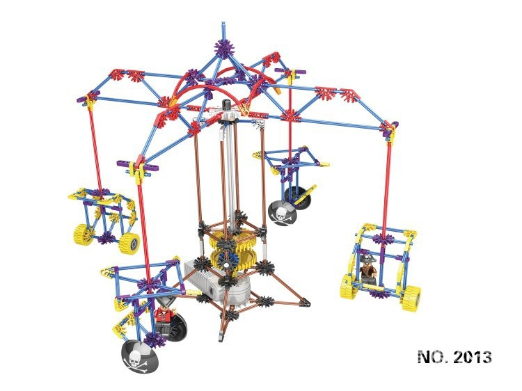 LOZ Carousel Model Rotatable Electric Building Block Sets Bricks Blocks Toys Scale Compatible Lepins DIY Model Figures