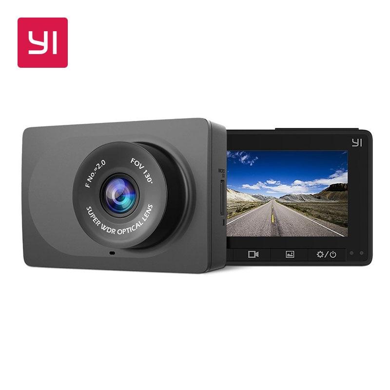 YI компактная тире камера 1080P Full HD Автомобильная приборная панель камера с 2,7 дюймов ЖК-экран 130 WDR Объектив g-сенсор ночного видения черный