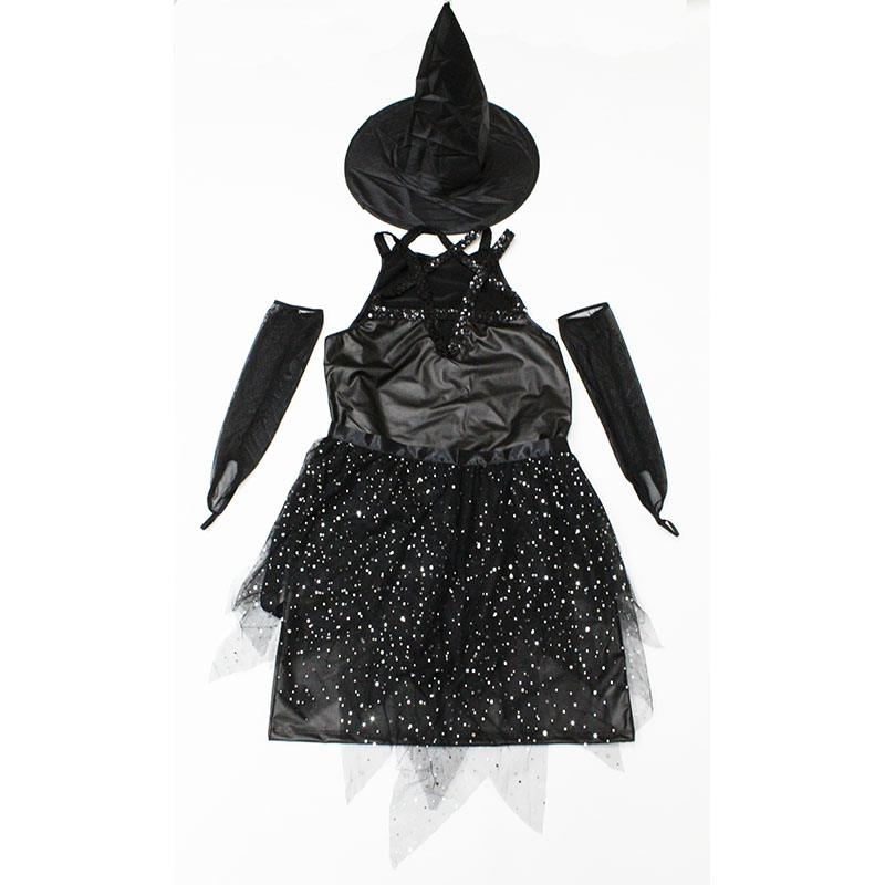 new Halloween Sexy Shining black Pu witch costume nightclub bar DS Adult witch Cosplay clothing Carnival Masquerade party dress