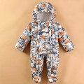 Mamelucos del bebé Nuevo Invierno de Alta Calidad estrella bebé Niños ropa de bebé Ropa de Las Muchachas Del Cabrito Del Mono de Los Niños ropa de Abrigo Ropa de Bebé