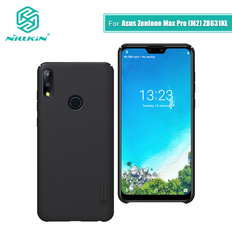 For asus zenfone max pro m2 zb631kl case cover 6.0 NILLKIN Frosted PC Matte hard back cover Gift Phone Holder for asus max proFor asus zenfone max pro m2 zb631kl case cover 6.0 NILLKIN Frosted PC Matte hard back cover Gift Phone Holder for asus max pro