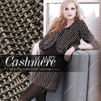 Heavy Beige Coffee black bit interleaving weave fashion woolen fabric coat fabric W1H71