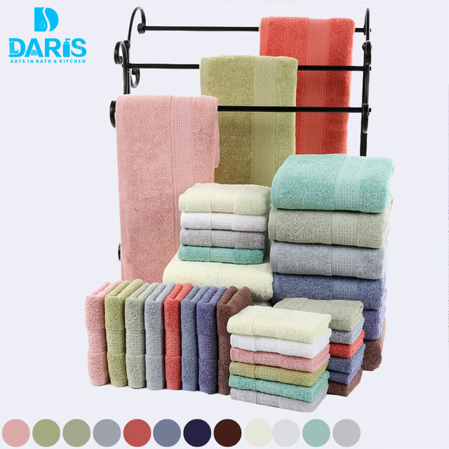 DARIS 100  Cotton Towel Sets Bath Towels For Adults Luxury Brand Soft Face  Towels Colors. DARIS 100  Cotton Towel Sets Bath Towels For Adults Luxury Brand