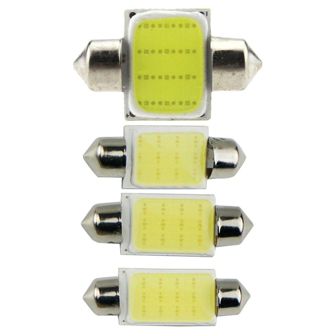 10pcs/lot 31mm 36mm 39mm 41mm Car COB 1.5W DC12V Interior Car LED Bulbs Lamp Interior Dome Lights