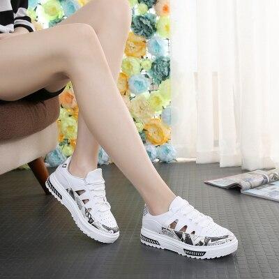 2018 feminino sapatos casuais hallow respirável laço