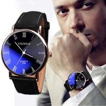 Новинка, роскошные модные изысканные классические мужские кварцевые аналоговые бизнес-часы из искусственной кожи, часы, лидер продаж, Прямая поставка, подарок, L529