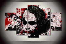 2016 Real Wall Art Wall Art Batman Joker Painting By Numbers On Canvas Room Decoration Print Picture Pictures Unframed 5 Pieces