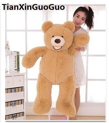 stuffed toy huge 140cm USA teddy bear plush toy soft doll hugging pillow birthday gift b2746