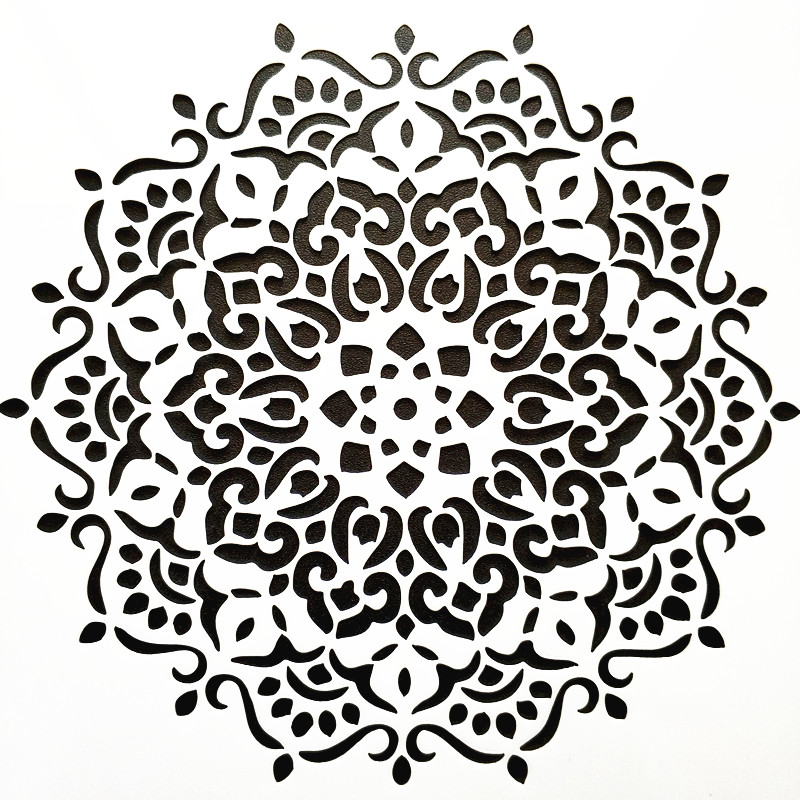 DIY Home Decor 15*15cm Mandala Stencil Template For Tile Painting Decor DIY Painting For Homework Decorative