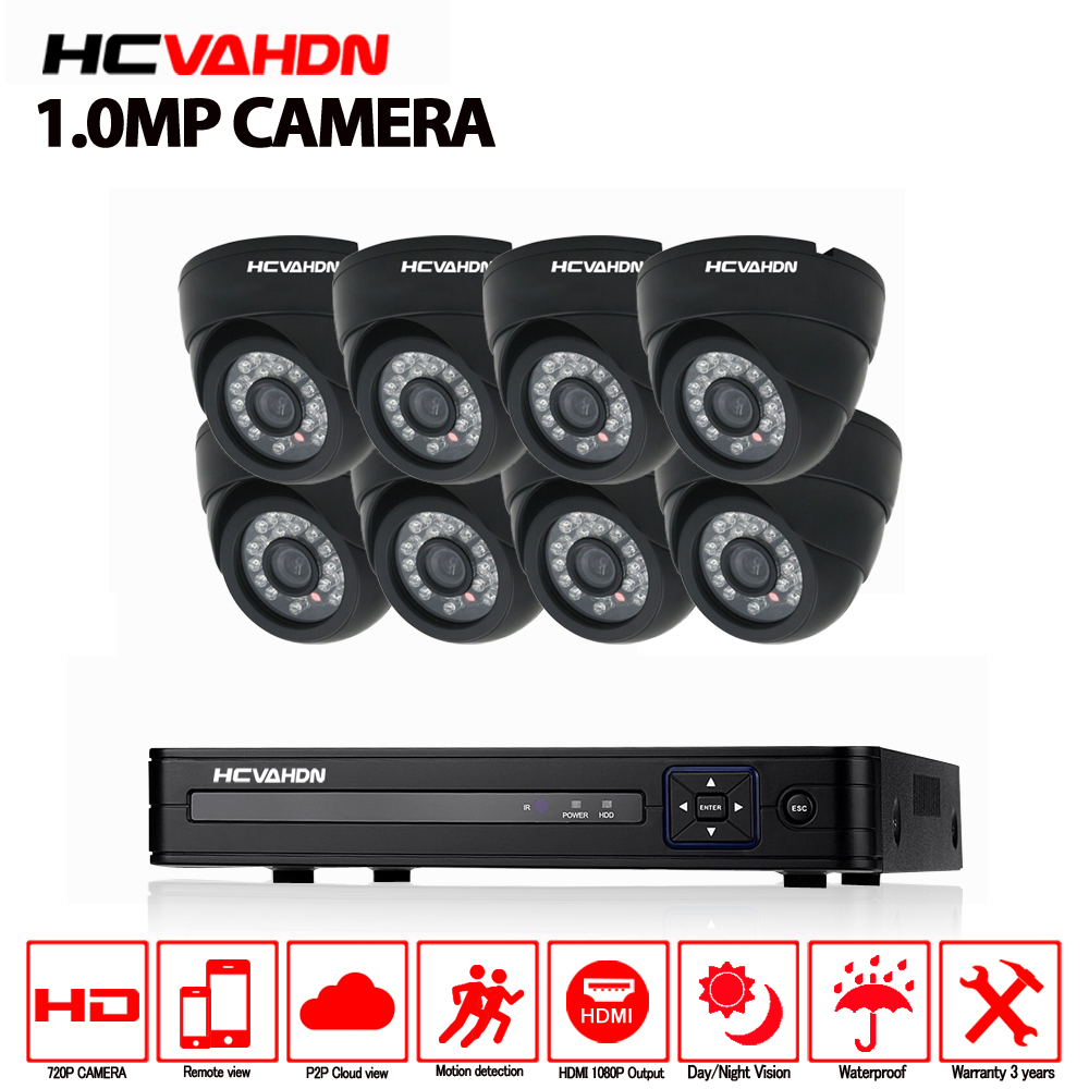 8CH 1080P HDMI DVR 1200TVL 720P HD Indoor Surveillance Security Camera System 8 Channel CCTV DVR Kit 1.0MP CCTV AHD Camera Set 8ch cctv security system hd 1080n ahd dvr 8pcs 720p ir indoor cctv camera system 8 channel video surveillance kit dome camera
