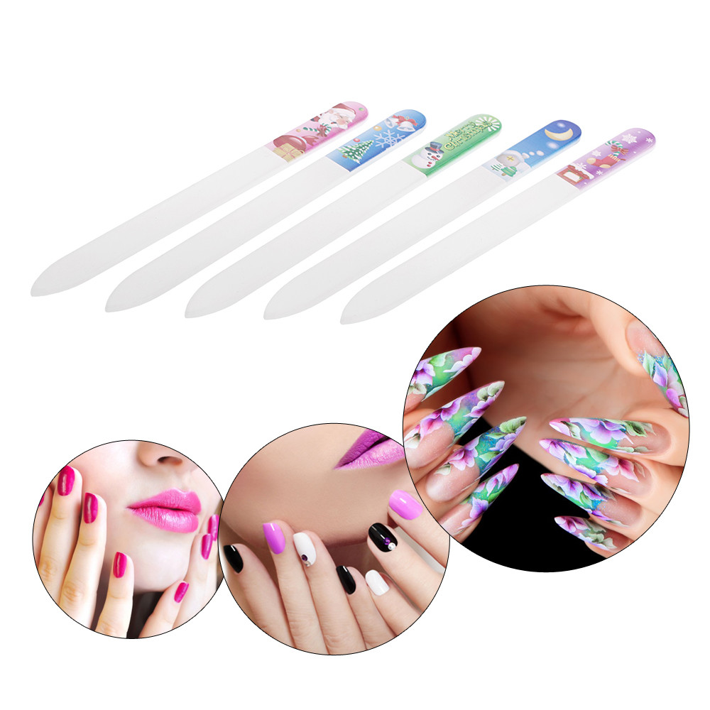 5pcs Nail Files Set Manicure Buffing Art Salon File Christmas Polishing Tool In Buffers From Beauty Health On Aliexpress