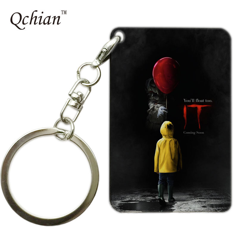Halloween Horror Film Stephen Kings It Printed Pictures for Car Keychain or HandBag Ornaments Pendant for the Brave One
