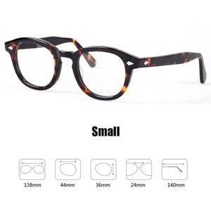 Image 5 - 안경 남성 조니 Depp 안경 투명 렌즈 브랜드 디자인 컴퓨터 고글 남성 라운드 빈티지 스타일 sq000