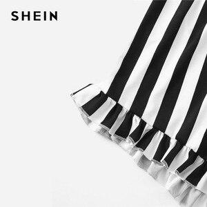 Image 3 - שיין ג ינג ר גרפי טי מצויץ פסים מכנסי פיג מה עבור נשים עגול צוואר קצר שרוול 2019 קיץ פיג מה סטי NightWear