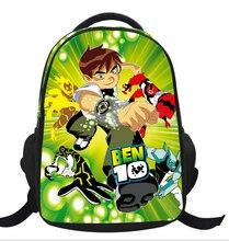 2016 New Arrival Ben 10 Children School Backpack for Boys Girls Cartoon Nylon Breathability Kids Shoulder Bag Mochilas