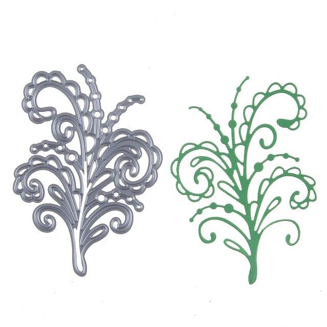 hemere 69 98mm swirl botanical metal cutting dies stencil frame