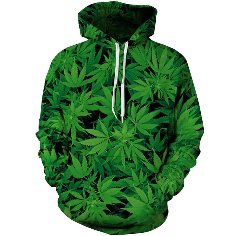 New Fashion Weed Leaf 3D Print Sweatshirt Hoodies Coats Casual Hip Hop Sweatshirt Outfits Tops Hoody