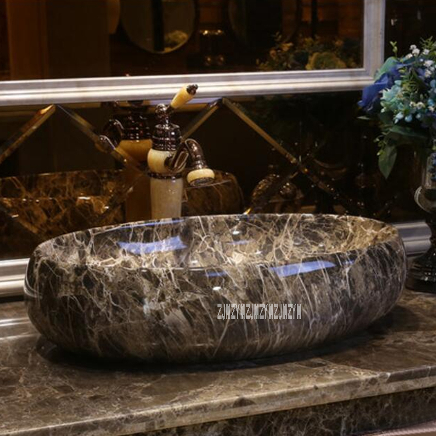 GW-6081 Vintage Style de Haute Qualité En Céramique De Lavage De Comptoir Bassin Art Vasque Salle De Bains Évier Artistique À La Main Lavabo
