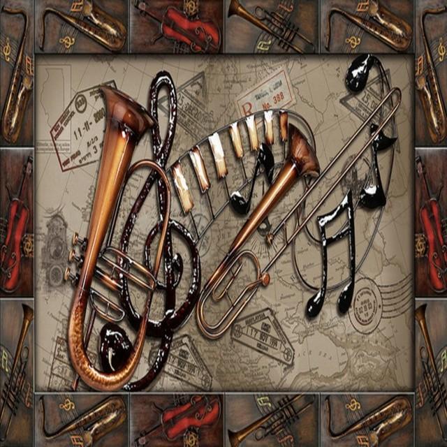 Aliexpress Com Comprar Foto Papel Pintado Retro Instrumentos