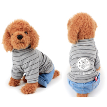 Fashion Autumn Casual Pet Dog Clothes Coverall For Cute Small Winter Warm Wear Jeans Poodle XS-XL