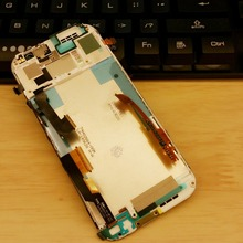 It is dual SIM For HTC one M8 831c LCD Screen Display Assembly with frame Silver