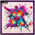 2016 Новое Прибытие Роуз Печатные Mulbery Шелковый Шарф Для Женщин Известный фирменное Наименование Чистого Шелка Шарф Платок Хиджаб Платок Шаль