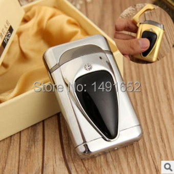 Novelty Gas electronic sense Metal Lighter Funny Diamonds Cigarette Lighter Valentine s Day Gift for Man