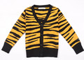 Fashion Tiger Leopard Sweater Cardigan Children Cotton V-neck Girls Boys Sweater Autumn Spring Clothing In Stock 1-5Y AS-1585