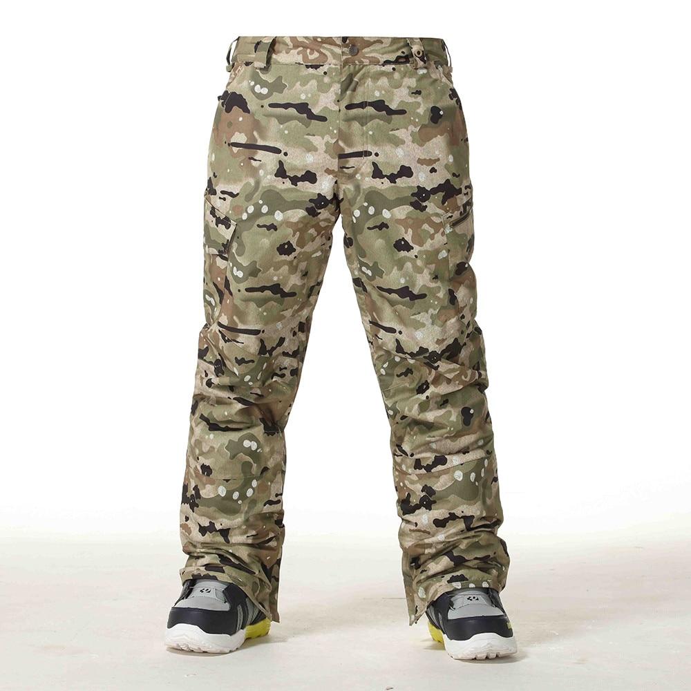 Gsou pantalon de Ski de neige hommes hiver Snowboard pantalon imperméable respirant Camouflage pantalon de Ski épaissir chaud coupe-vent vêtements de Ski