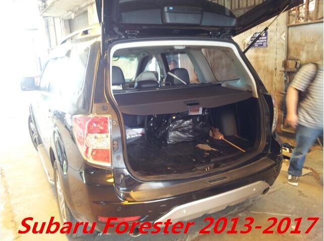 Protection de sécurité de coffre arrière de voiture protection de cargaison pour Subaru Forester 2013 2014 2015 2016 2017 (noir, beige)