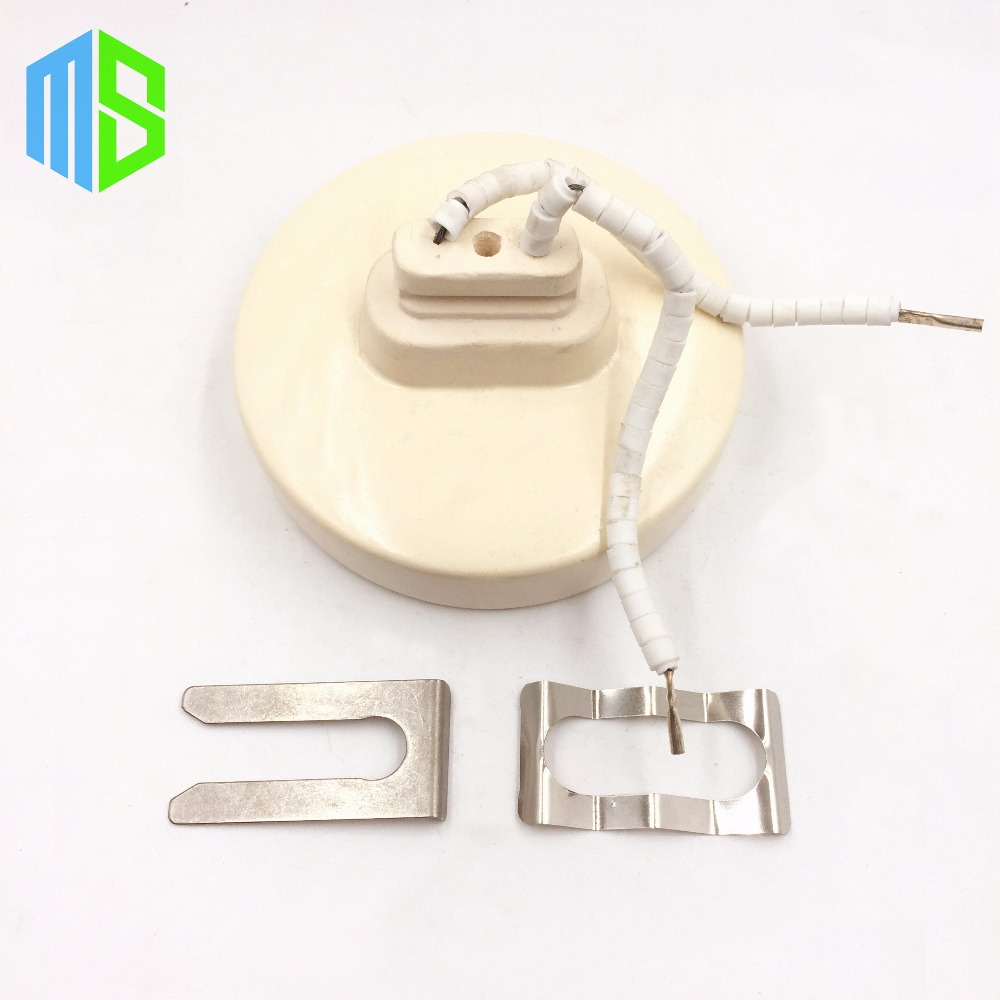 220V 105x25mm 350W White IR Infrared Circular/Round Ceramic Heater Plate Air Heating Board Pad For BGA Station Mould PTC Heater pet heating light bulb e27 infrared ceramic emitter heating lamp bulb 25 150w 80mm for reptile pet brooder white black 110 220v