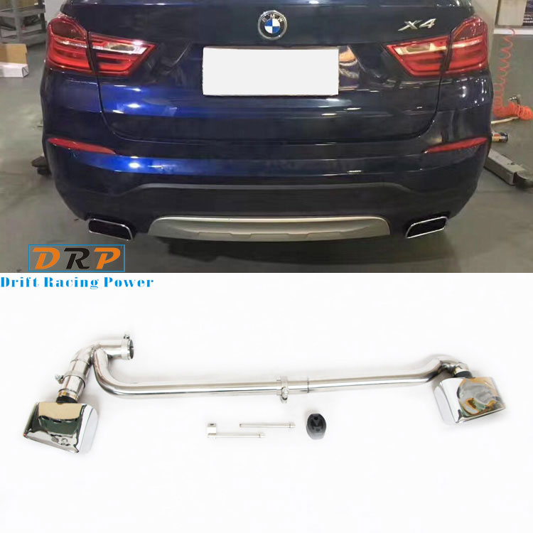Good Selling muffler tail Stainless Steel Modified Car rear Exhaust Muffler pipe tail throat with square mouth for BMW X3 X4 diffuseur arrière carbone bmw x4 f26