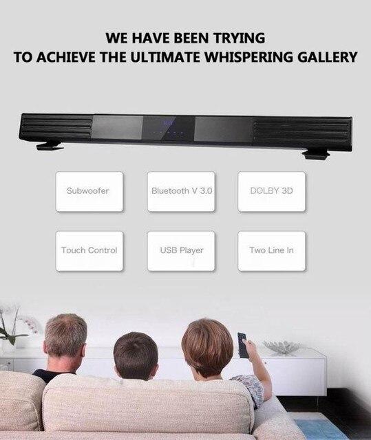 US $220 0  Wireless Bluetooth Soundbar Dolby 3D Surround Sound Bar 120W  Subwoofer Tweeter SL 988 For LETV SONY PANASONIC SANGSUNG LED TV-in  Portable